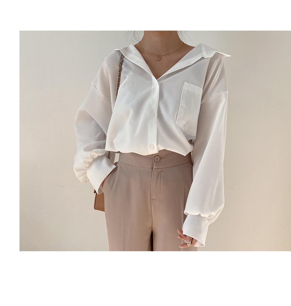 リリエンコ オーバーフィット ワンポケットシャツ
