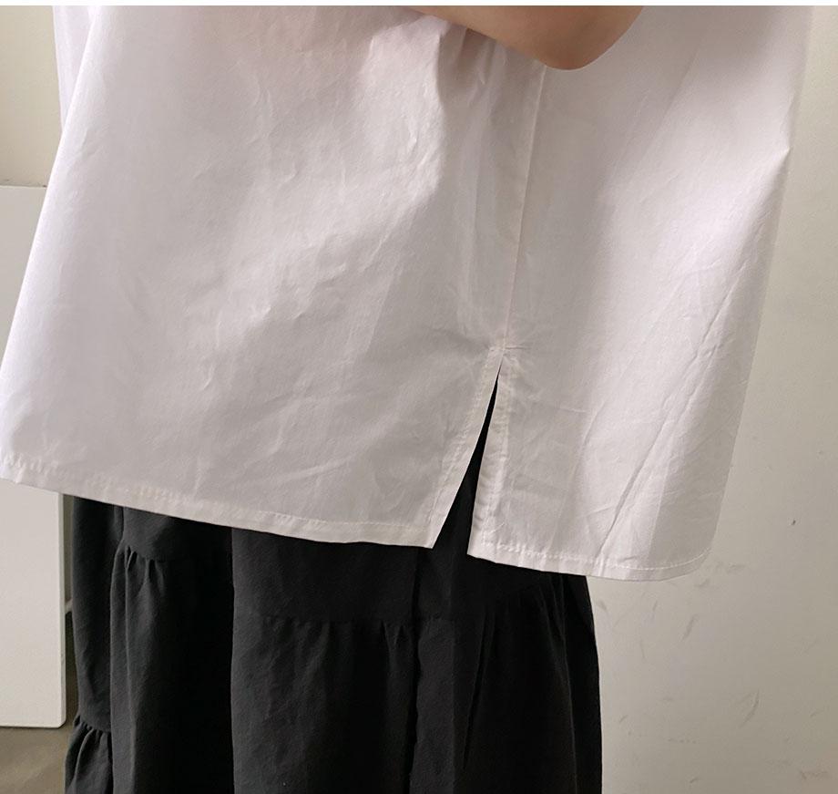 RIRINCO サイドスリットルーズフイットシャツ